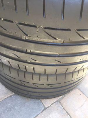 255 40 18 Bridgestone Potenza Run Flat tires set of 2 for Sale in Manassas, VA