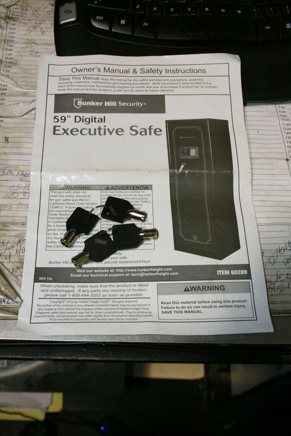 59 Bunker Hill Digital Executive Gun Safe For Sale In Moore Ok