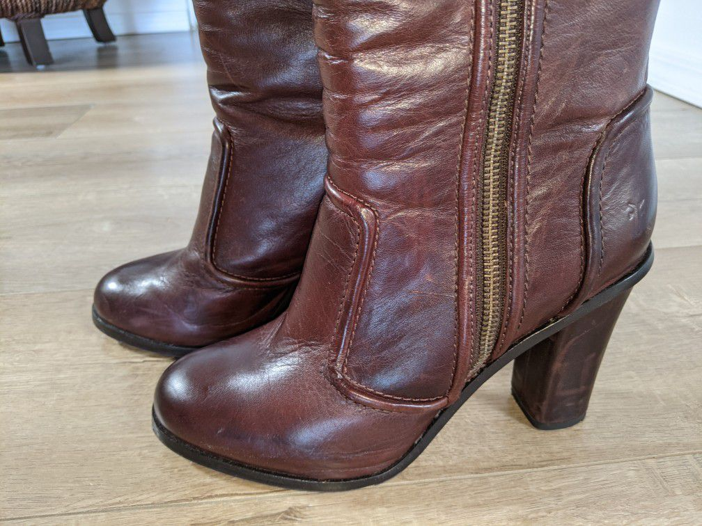 Frye Women's Leather Boots- Size 8. Style: Sylvia Piping
