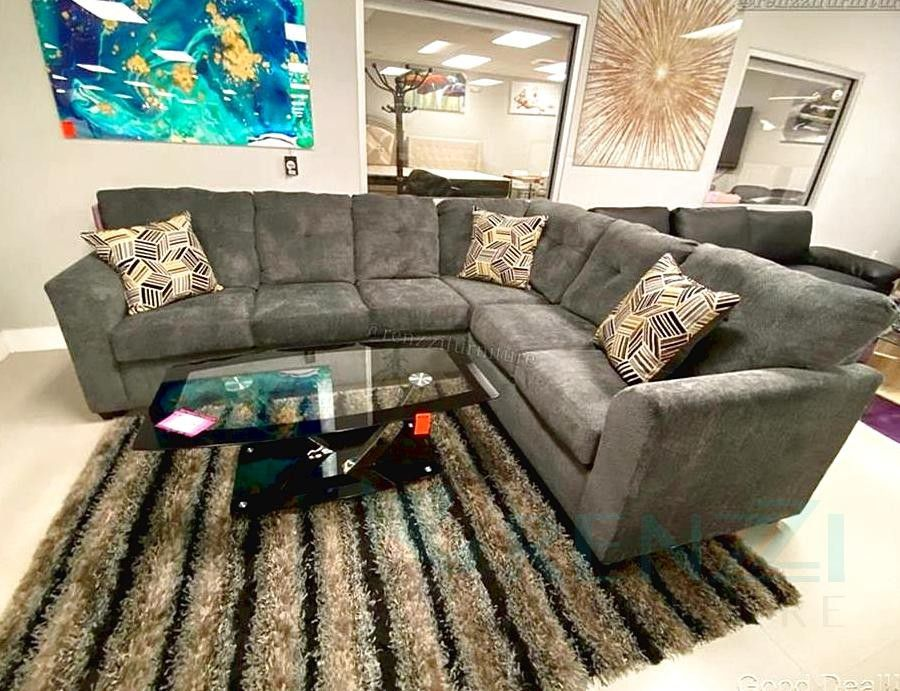   N-2  -Brand new-Gray Sectional $1099 / Financing Available