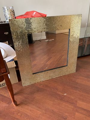 Luxury fancy Gold mirror. New been stored since purchased. for Sale in Vienna, VA