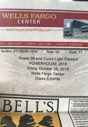 Powerhouse ticket for sale for Sale in Philadelphia, PA