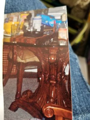 Wood glass top table set for Sale in Crewe, VA