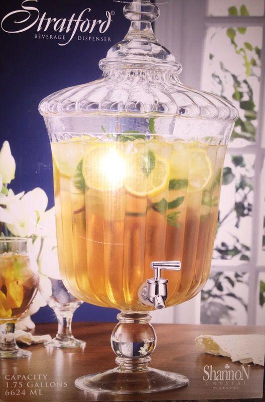 New Stratford Beverage Dispenser Shannon Crystal By