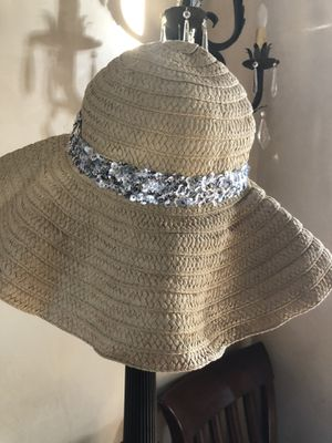 Juicy Couture straw hat with sequence for Sale in Scottsdale, AZ