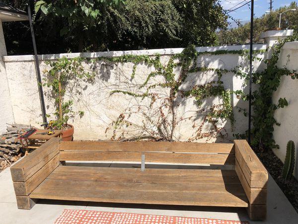 Railroad Tie Outdoor Furniture Bench for Sale in Pomona, CA - OfferUp