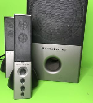 (Space Grey) Altec Lansing VS4121 2.1 channel stereo computer speakers (FREE GIFT OF YOUR CHOICE WITH ANY PURCHASE) for Sale in Los Angeles, CA