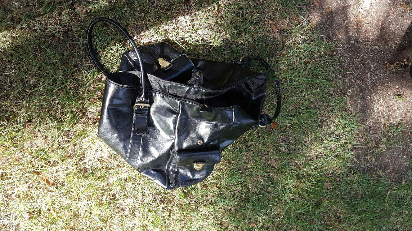 Black overnight bag