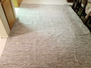 Cream leather rug for Sale in Las Vegas, NV