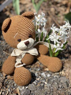 Crochet Teddy Bear Toy Handmade Thumbnail