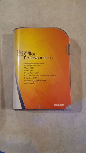 Microsoft Office Professional 2007 for Sale in Seattle, WA