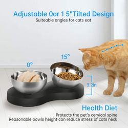 NEW Cat Bowls for Food and Water Thumbnail