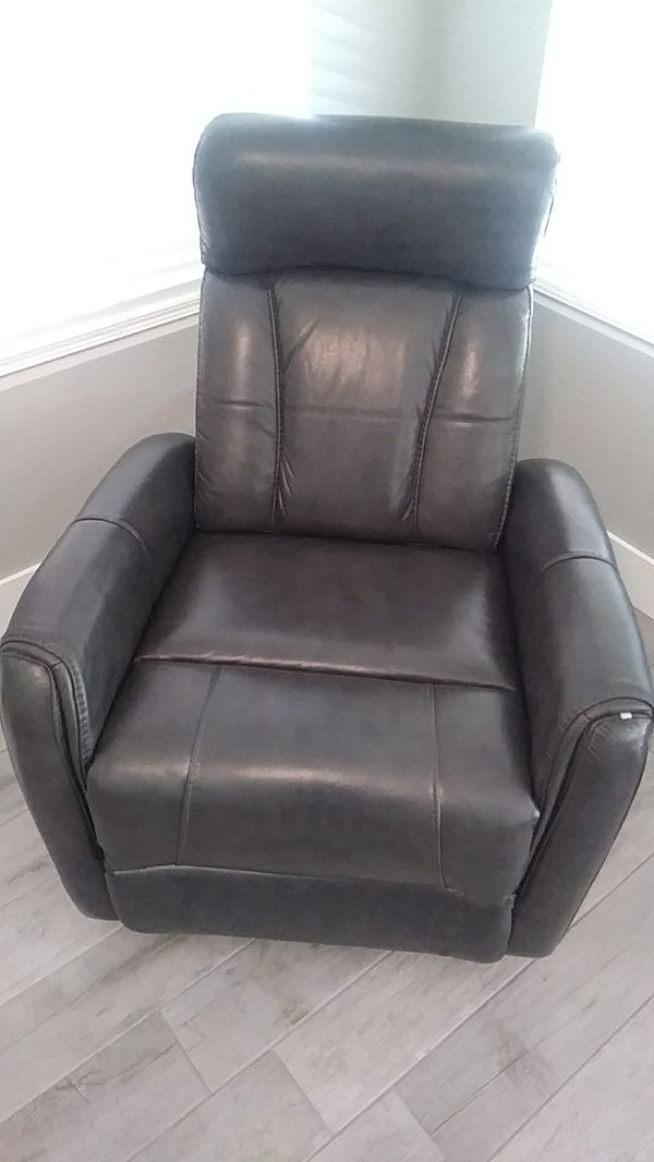 grey leather recliner. Brand New Lyle Grey Leather Recliner Living Spaces For Sale In Chandler, AZ - OfferUp C