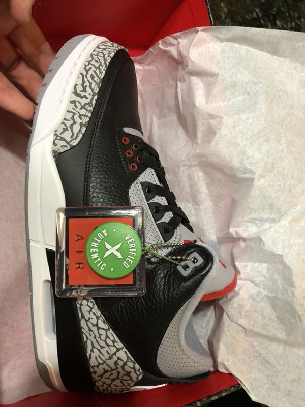 94249b02fefb Brand new Jordan 3 Black Cement from StockX for Sale in Westland