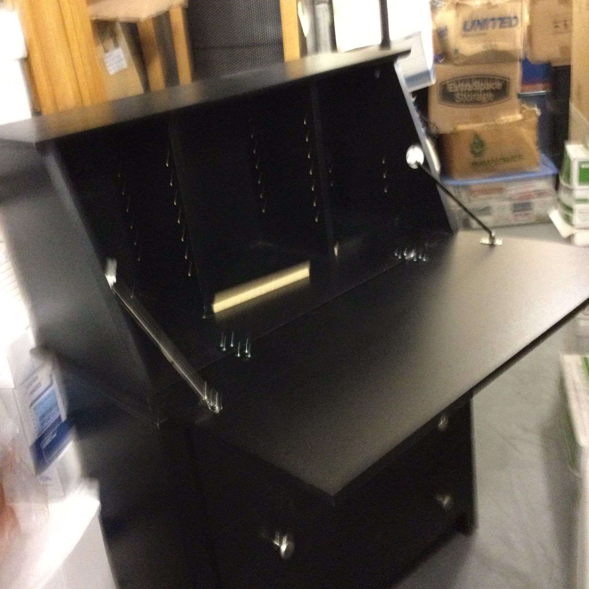 Three Door Desk With Writing Table