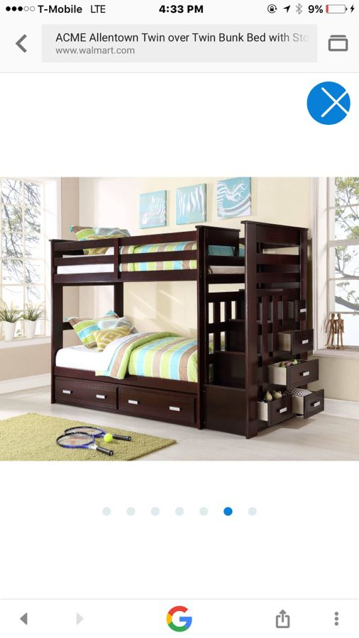 Acme Furniture Allentown Twin Over Twin Bunk Bed Espresso For Sale