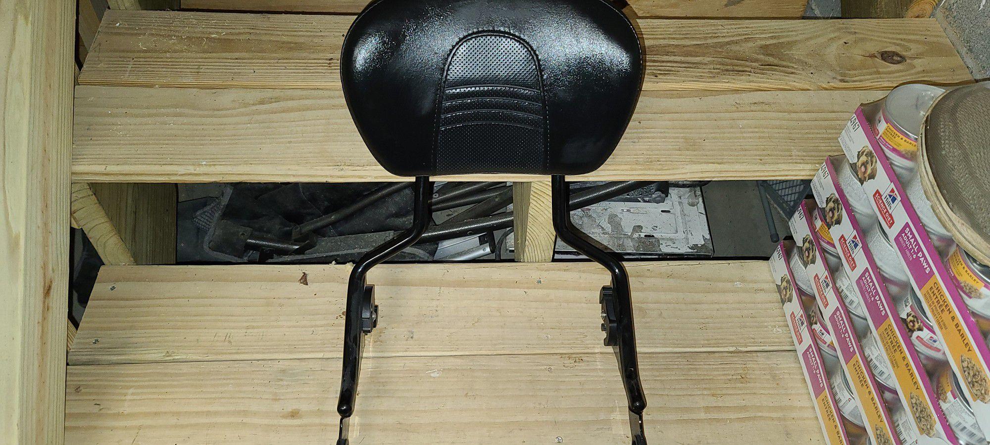 Photo Fits 09 to 2022 Harley Davison HD Detachables Sissy Bar Upright and Street Glide Stitch Passenger Backrest Pad