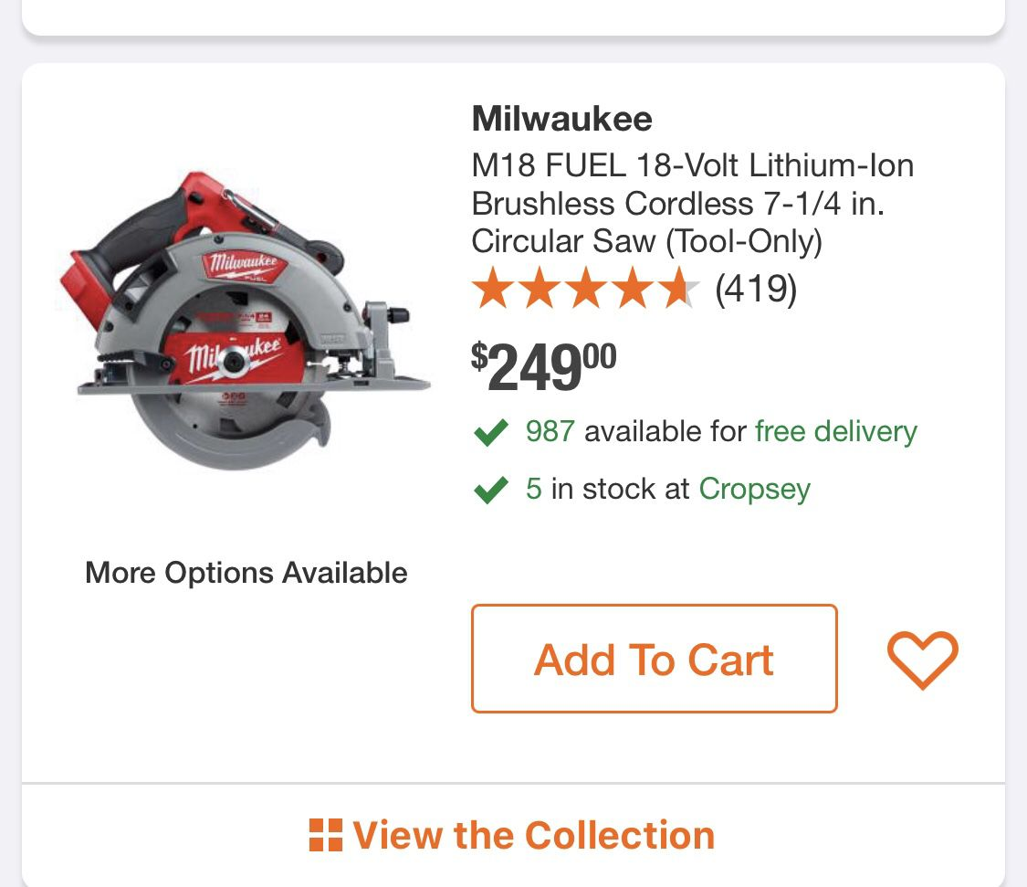 Milwaukee M18 FUEL 18-Volt Lithium-Ion Brushless Cordless 7-1/4 in. Circular Saw (Tool-Only)