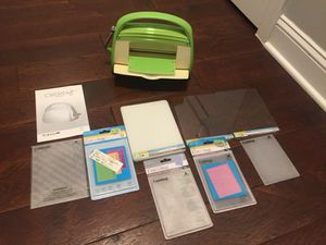 Cricut Cuttlebug and embossing folders for Sale in Haymarket, VA