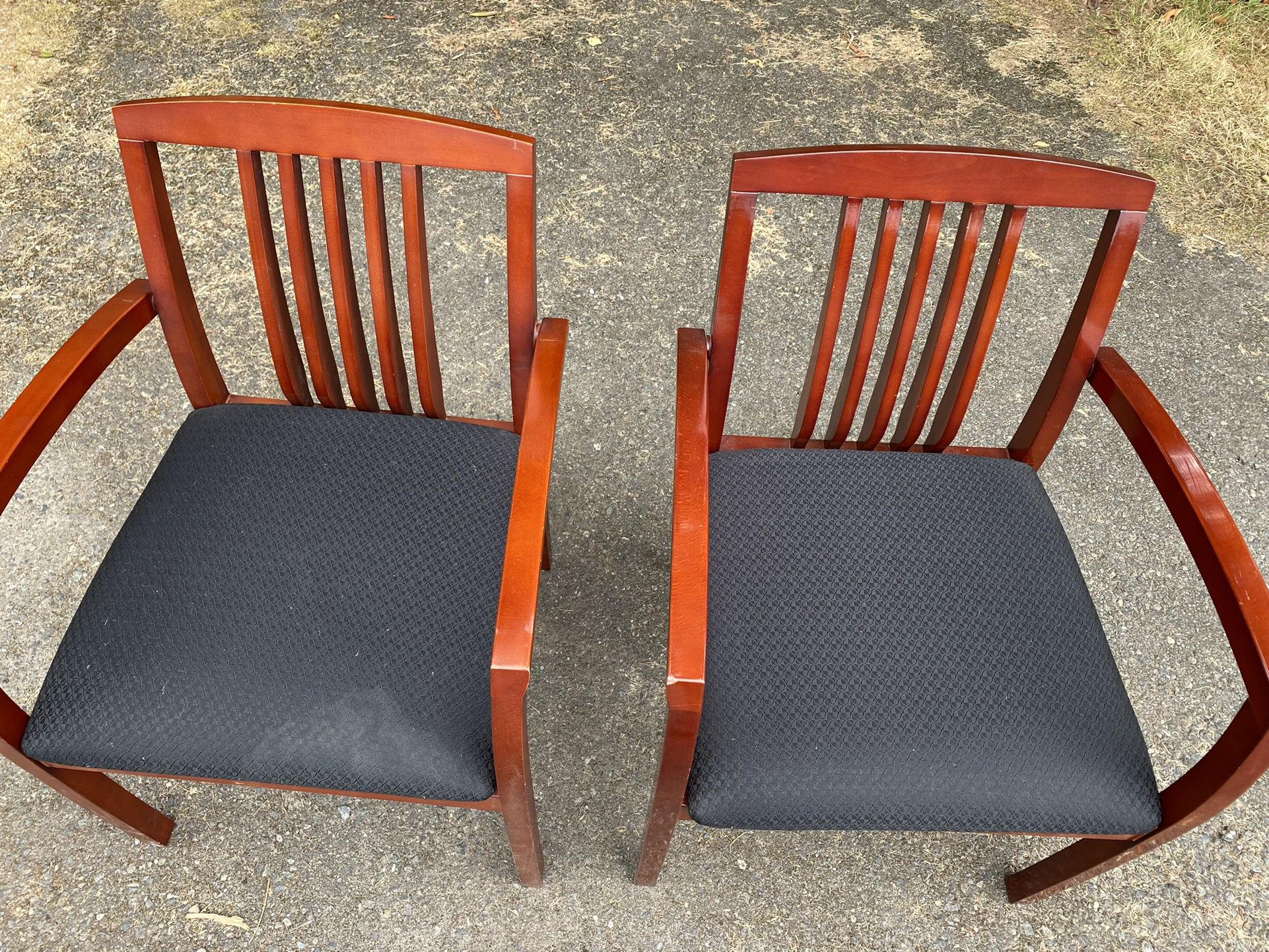 Two Wooden Office Chairs