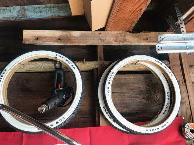 "Lowrider Bike 20"" Whitewall Tires"