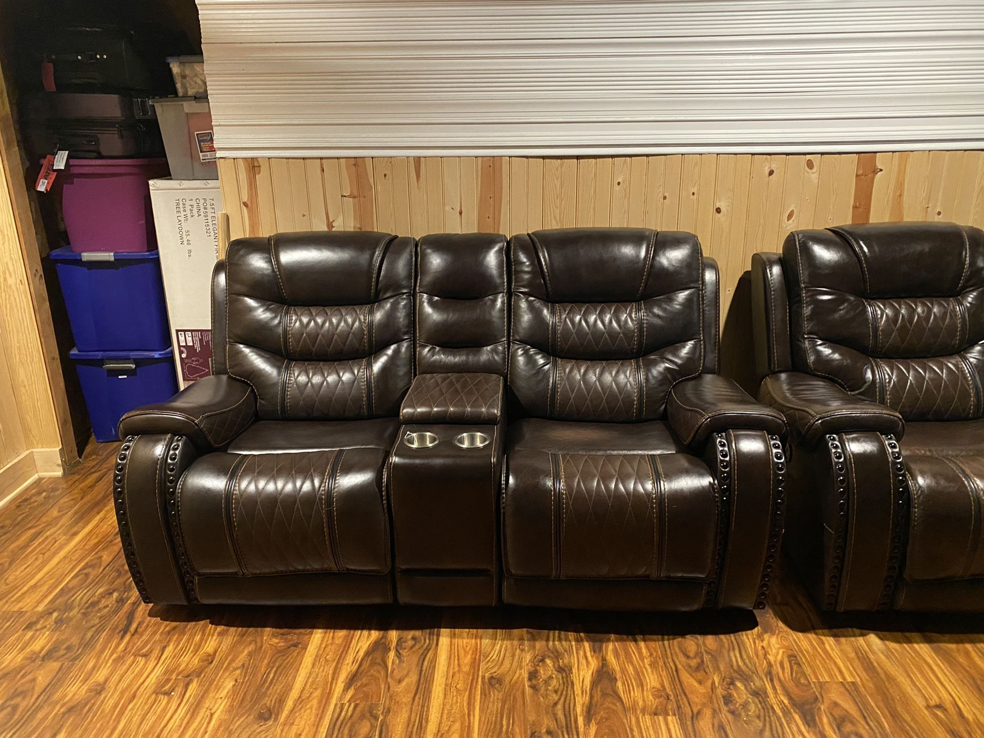 Leather Power Reclining Couches