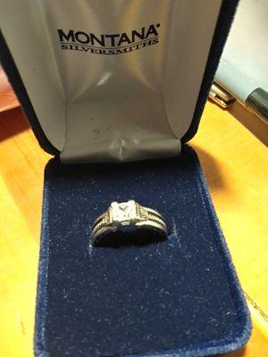 Photo Montana ladies silver ring. Size 71/4