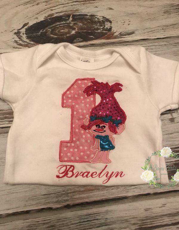 Poppy Embroidered Birthday Shirt