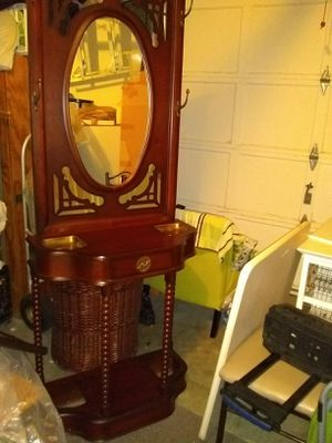 Bombay entry way mirror hooks and drawer stand for Sale in Alexandria, VA