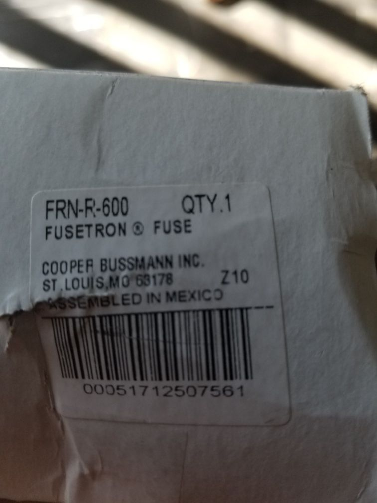 Fusetron fen-r-600 fuse