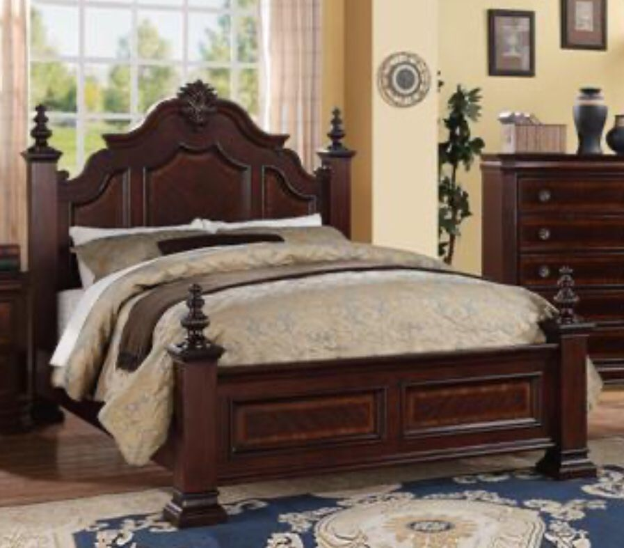 QUEEN BED FRAME WITH MATTRESS *909*541*6556 1662 INDIAN HILL BLVD POMONA CA 91767