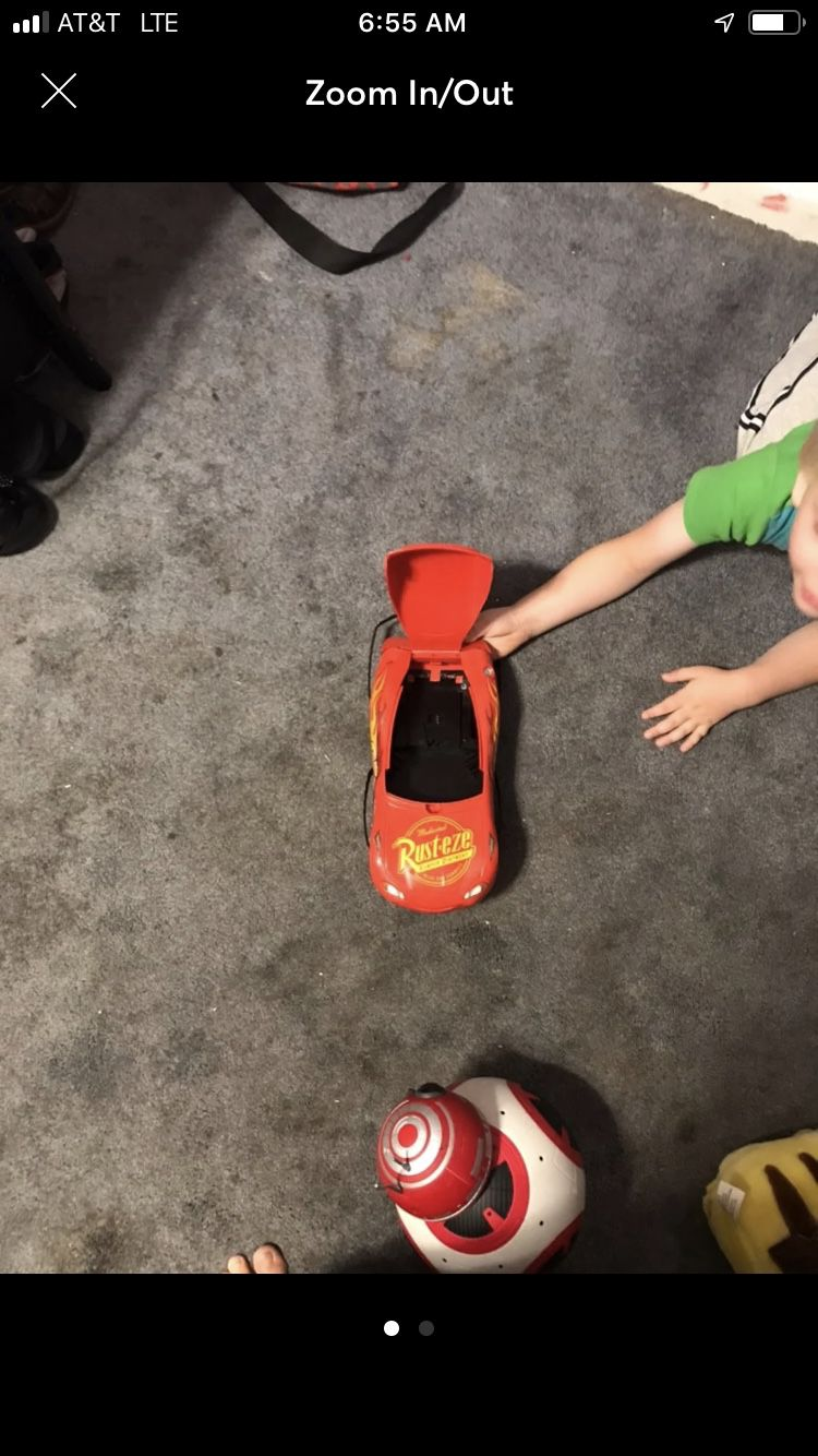 Lightning McQueen lunch box or toy storage