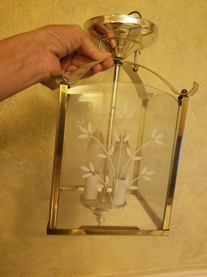 Charming 2 Lightbulb, Frosted Floral Glass Design, Chandelier for Sale in Aloma, FL