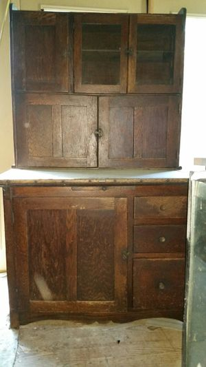 1908 Hoosier Saves Steps Antique Kitchen Cabinet for Sale in Victoria, VA