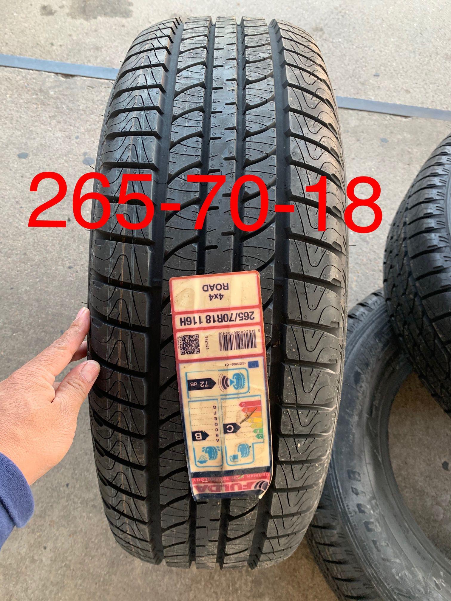 4 New 265-70-18