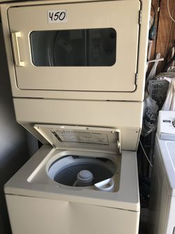 """Whirlpool stackable washer and dryer 27"""" wide in perfect condition and 6 months warranty. We have delivery service available Thumbnail"""