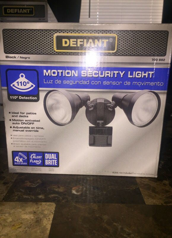 Motion security light