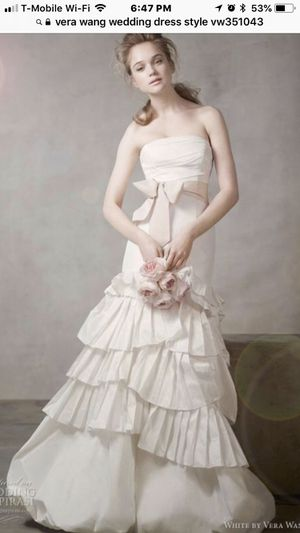 Vera Wang White Collection Wedding Dress For Sale In El Paso TX