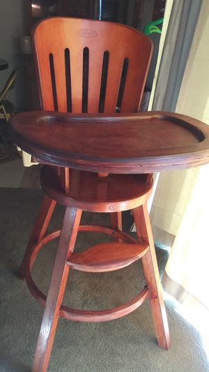 Antique wooden high chair for Sale in Phoenix, AZ