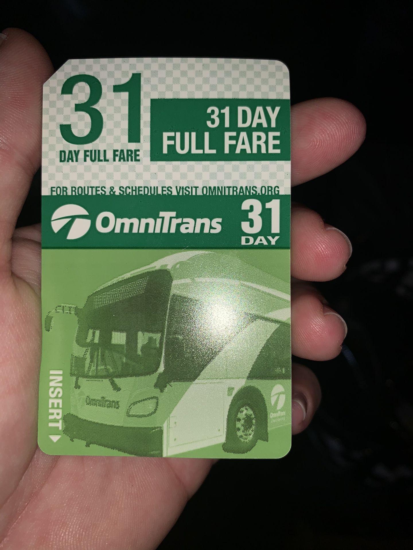 New bus pass