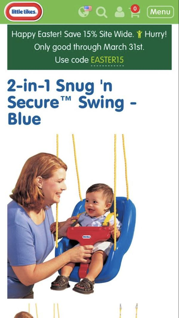 The 2 In 1 Snug N Secure Swing Is Easy To Use And Just