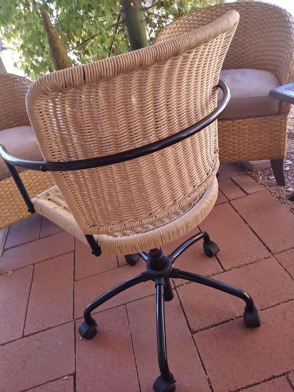 New Ikea Gregor Unique Thick Woven Wicker Swivel Desk Chair For In Gilbert Az Offerup