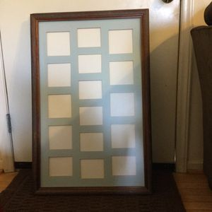 2 Wood Photo Frames -Size 22 1/2 X 34 1/2 & 1 Wooden Photo Frame - 25 1/2 X 25 1/2 for Sale in Bedford, VA