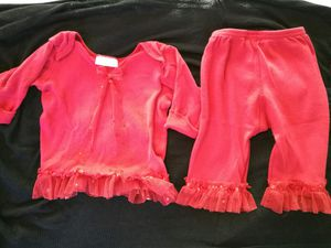 PERFECT for Christmas photos!! Previous, vibrant red bebemonde outfit. 9mos. My daughter wore it until she was 14mos for Sale in Austin, TX