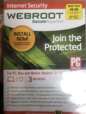 Webroot Internet Security from Best Buy for Sale in Portland, OR