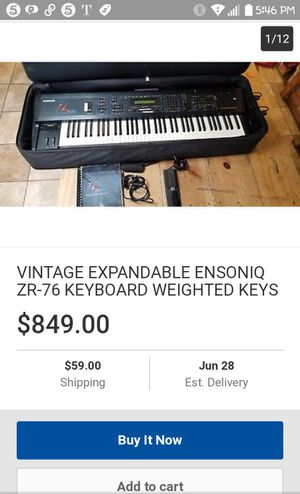 Ensoniq keyboard / music board ZR76 synthesizer for Sale in Fountain Valley, CA