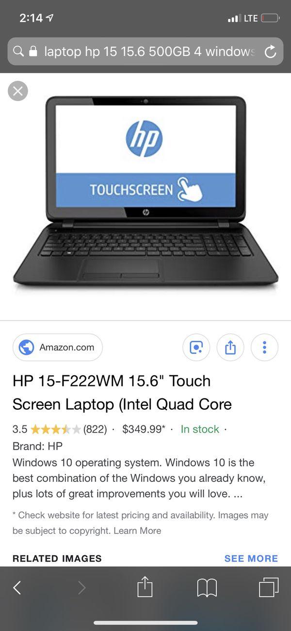 HP 15 Laptop TouchScreen Windows 10 for Sale in Hialeah, FL - OfferUp