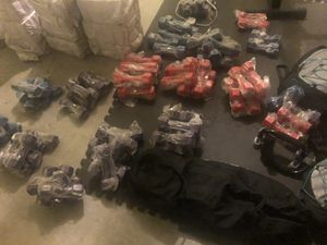 Brand New Dumbbells 6lbs and 8lbs Blue, Red, Purple only $5 a set for Sale in Charlotte, NC
