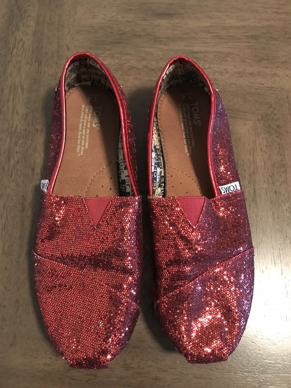 5562f6ad08f Toms (Red Glitter color) for Sale in Pasadena