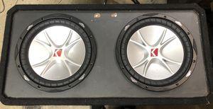 """Photo 12"""" Kicker Cvr subs and Kicker 500/1 amp"""